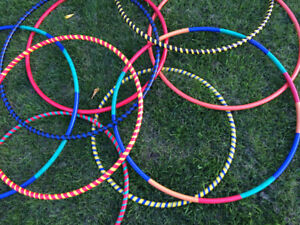 Handcrafted hula hoops produced locally