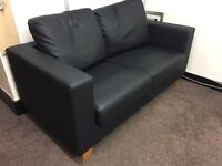 2 seater leather office sofa