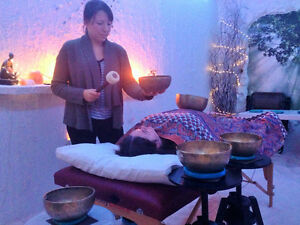 Tibetan Singing Bowl Vibration Meditation with Salt Therapy Brantford Ontario image 3
