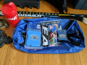 Brand new Popeyes gym bag, towel, shaker cup, lifting pads plus