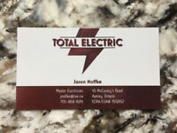 Total Electric, No job too small!
