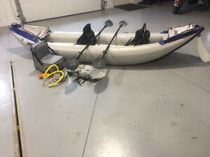 Sea Eagle 14ft  inflatable tandem Kayak with all the extras!
