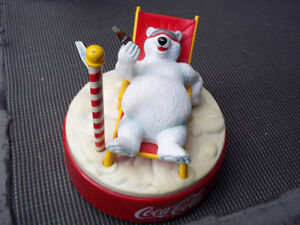 COCA COLA POLAR BEAR MUSICAL ALARM CLOCK 1996