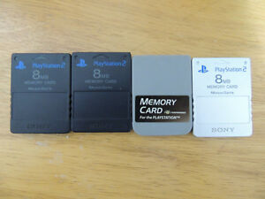 3 PS2 Memory Cards and 1 PS1