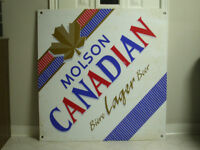 Molson Canadian Beer Sign Large Vintage 1980s