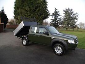 2008 08 FORD RANGER 2.5TDCi 4x4 4WD CREW-CAB SUPERCAB DROPSIDE PICKUP TIPPER 95K