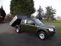 2008 08 FORD RANGER 2.5TDCi 4x4 4WD CREW-CAB SUPERCAB DROPSIDE PICKUP TIPPER 95K