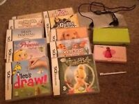 Nintendo ds lime green & lots of games