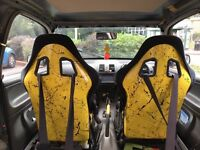 Cobra bucket seats and harnesses