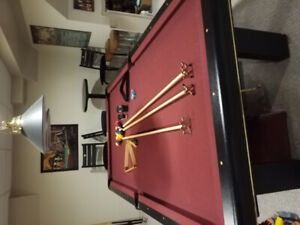 Pool table and accessories $1800.