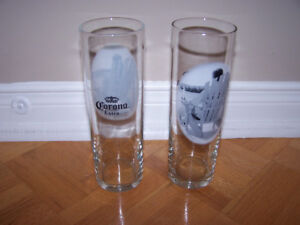 2 - CORONA EXTRA BEER GLASSES - hard to find
