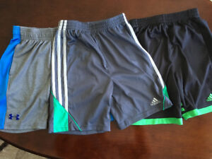 Under Armour and Adidas shorts
