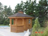 SHEDS, POOL HOUSES, CABINS