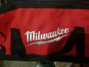 Brand new milwaukee and dewalt 5 piece tool bag