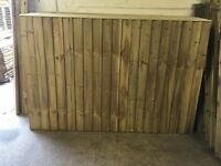 🌲HEAVY DUTY HIGH QUALITY TANALISED WOODEN CLOSE BOARD FEATHER EDGE FLAT TOP FENCE PANELS