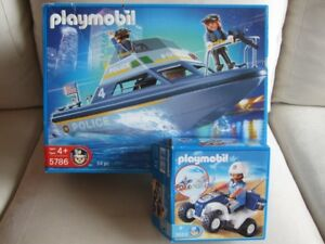 Playmobil Police Boat and All-Terrain Vehicle - AMAZING DEAL!