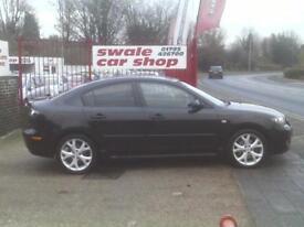 20009 09 Reg Mazda Mazda3 2.0 Sport 4 Door Black LEATHER NEW MOT