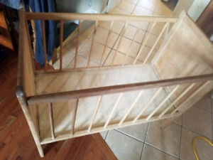 Antique wood crib , moving sale