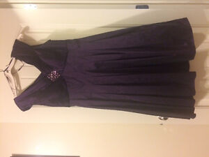 Beautiful Deep Purple Dress. Great Dress For Any Occasion .