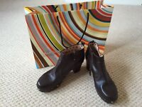 Paul Smith Brown leather boots. Size 6 1/2