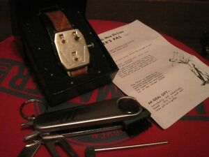 Golfer's pal watch and knife