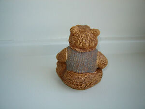 Vintage 1984 Stone Critter Collectible Teddy Bear London Ontario image 2