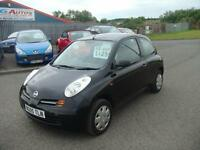 05 NISSAN MICRA 1.2 S 3DR BLACK PX WELCOME