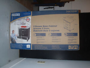 Cosco 3 Drawer Base Cabinet - in original box