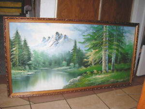 """Large Oil Picture, 27"""" X 50"""""""