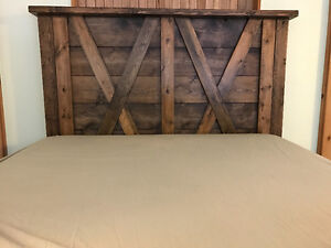 Custom, rustic, solid wood bed frame (queen)