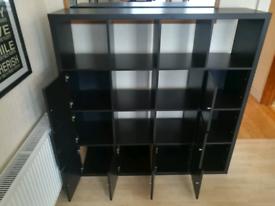 Bookcase Ikea KALLAX Black 16 inserts (8 doors) Bookshelves