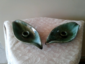 Leaf Shaped Taper Candle Holders