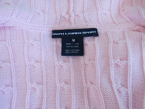RALPH LAUREN SPORT POLO CABLE KNIT HOODIE SWEATER -BABY PINK Cornwall Ontario image 4