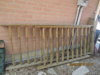 deck Fences and wood bars X 2