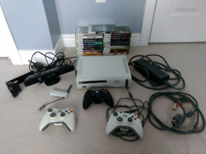 Xbox 360 Console, Kinect, games and controllers