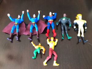 SUPERMAN, GREEN LANTERN, FLASH, AQUAMAN ETC. ACTION FIGURES