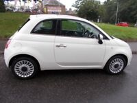 Fiat 500 1.2 LOUNGE++LOW MILEAGE +GLASS ROOF++ (white) 2011