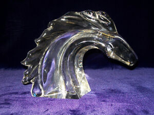 Tête De Cheval, Cristal DAUM - Horse Head Sculpture  FRANCE