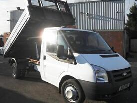 2012 FORD TRANSIT SINGLE CAB 115PS ONE STOP TIPPER, 55,000 MILES ONLY!!