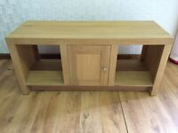 Light Oak Effect Coffee Table TV Stand