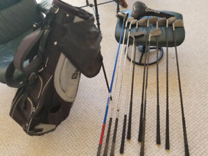 for sale used golf clubs and a new bag