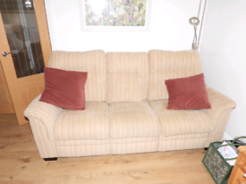 Parker Knoll 3 seater sofa, reclining armchair, armchair & footstool