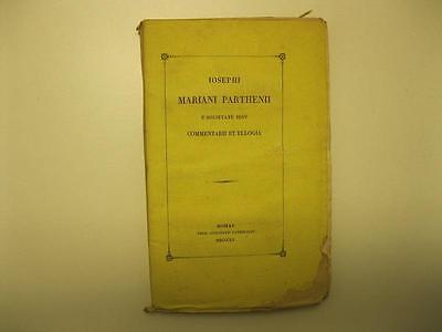 PARTENIO MARIANO Giuseppe, Commentari