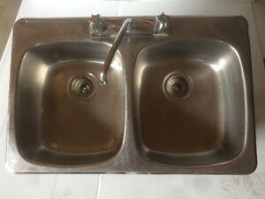 lavabo double stainless