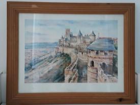 Framed Landscape Picture