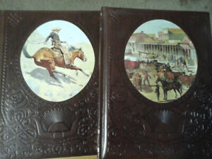 VINTAGE...9 TIME-LIFE BOOKS/ BEAUTILFUL/LEATHER BOUND