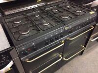 Belling 8 ring dual fuel range cooker