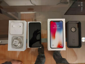 IPHONE X - 64GB - SPACE GRAY + CASE OTTERBOX