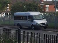 Minibus and Driver for hire.