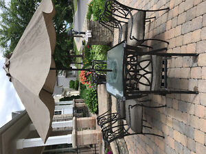 Black Metal Patio Set - Great for Canada Day